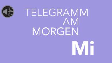 Design: Telegramm am Mittwoch