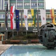 Der Brunnen vor dem Bayreuther Rathaus