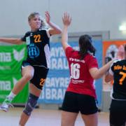 Theresa Stöcker in Aktion. Die HaSpo-Damen spielten am Wochenende beim 1. FCN 30:30