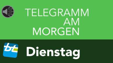 Design Telegramm am Dienstag