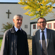 Pfarrer Stauch, Pastoralreferent Müller am BKH Bayreuth