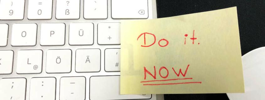Post it auf Tastatur