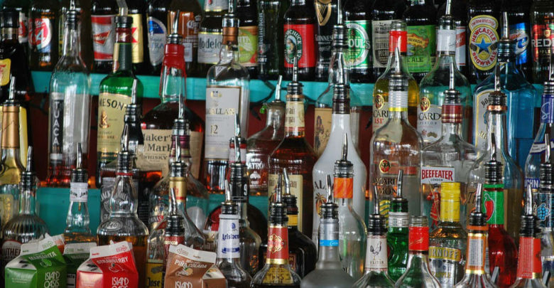 Alkoholflaschen
