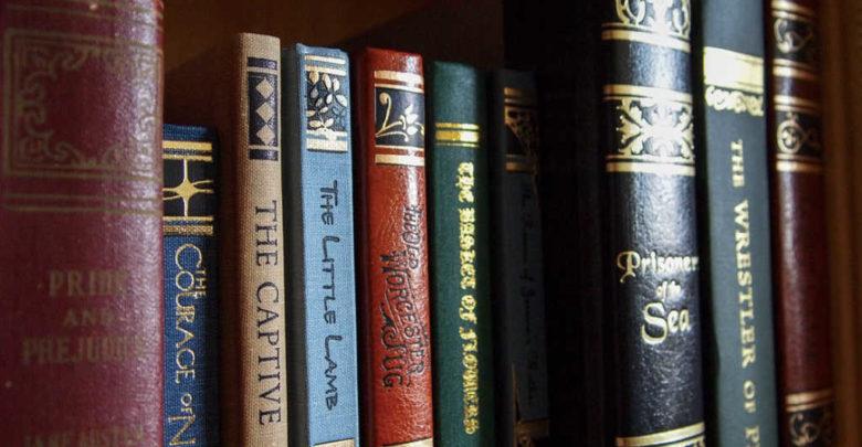 Mehrere Bücher in einem Regal.