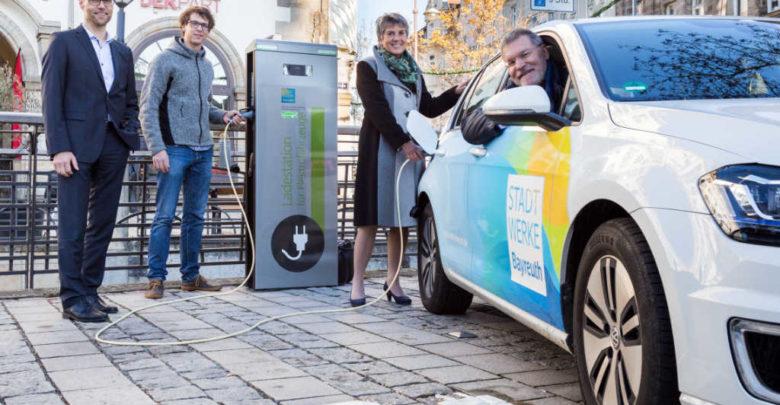 E-Autos im Bayreuther Stadtgebiet.