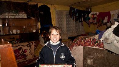 Pressefoto der Weihnachtspäckchen-Aktion