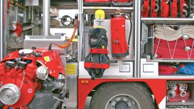 Feuerwehrauto offen