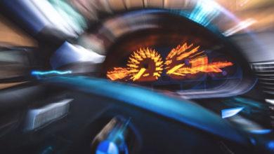 BMW Lenkrad und Tacho verschwommen