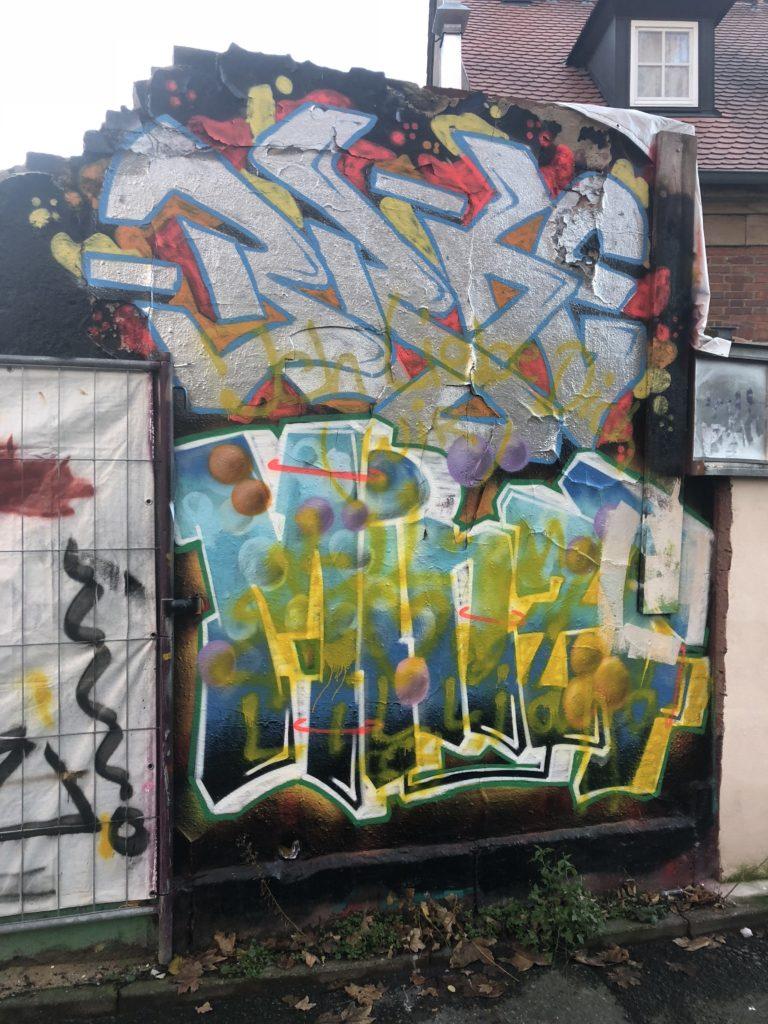 Die letzten Wandreste des ehemaligen Graffiti-Spots