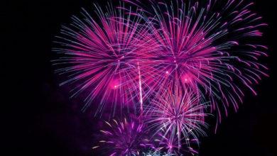 Feuerwerk pink