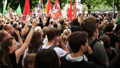 Demonstration junger Menschen