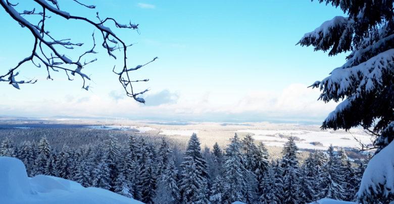 Platte mit Schnee, Fichtelgebirge