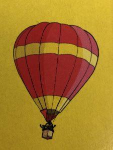 Bayreuth wimmelt, einroter Heißluftballon
