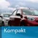 rotes Auto kompakt