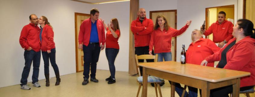 Theaterprobe beim TSV Harsdorf.