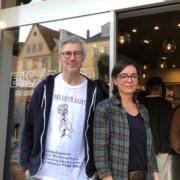 Oliver Hoyer und Simone Wedlich von der Eisbar in Bayreuth