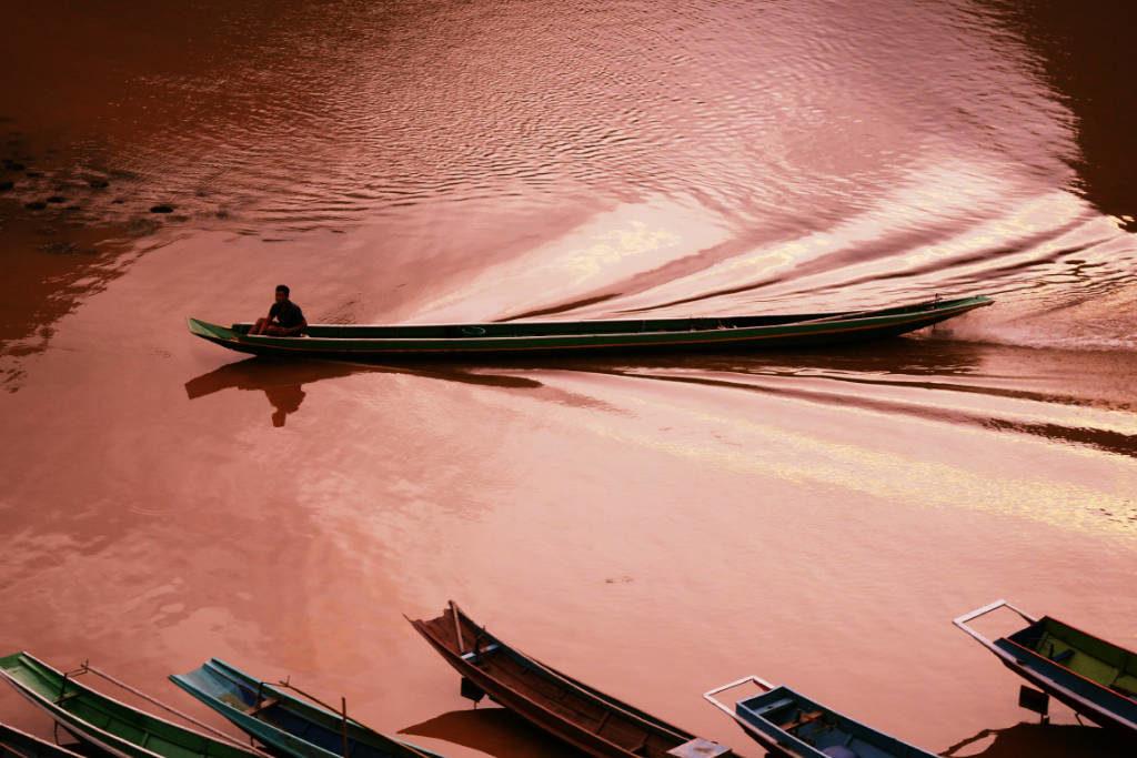 Fluss Nam Ou. Laos. Südostasien.