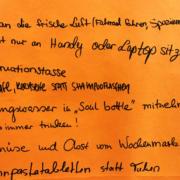 Ideenwand im RW21: Nachhaltigkeit