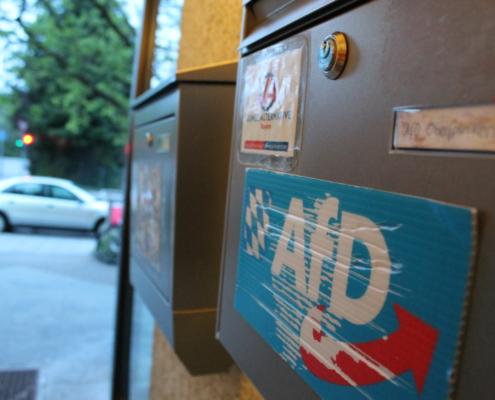 Das Bürgerbüro der AfD in Bayreuth. Foto: Redaktion