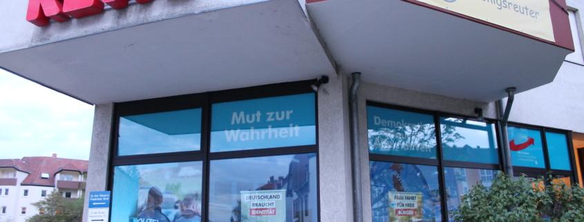 Das Bürgerbüro der AfD in Bayreuth. Foto: Thorsten Gütling
