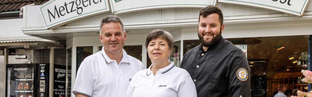 Die drei Inhaber der Metzgerei Parzen