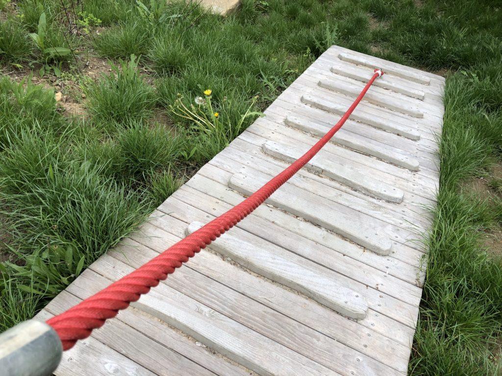 Kletterwand mit Seil in Seulbitz