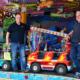 Die Vorbereitungen für das Bayreuther Volksfest sind in vollem Gange. (v.l.n.r.) Jan Kempgens und Marc Ermer von der BMTG sind als Organisatoren vor Ort.