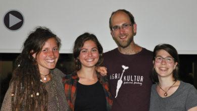 "Der Vorstand des Vereins ""Hamsterbacke"": (v.l.) Franziska Falterer, Caroline Löwer, Michael Cormann und Laura Kehry."