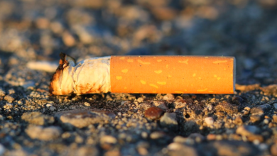 Zigarettenstummel auf dem Boden