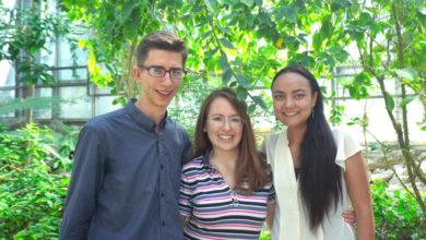 Das Gründerteam des Campusplaners COSI: (v.l.) Fabian Römpke, Sophie Meining und Loraine Elflein.