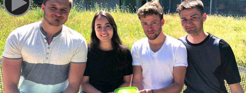 Die Initiatoren der Mehrbox (v.l.) Markus Porsch. Theresa Funk, Georg Gutheil und Lucas Uhlig.