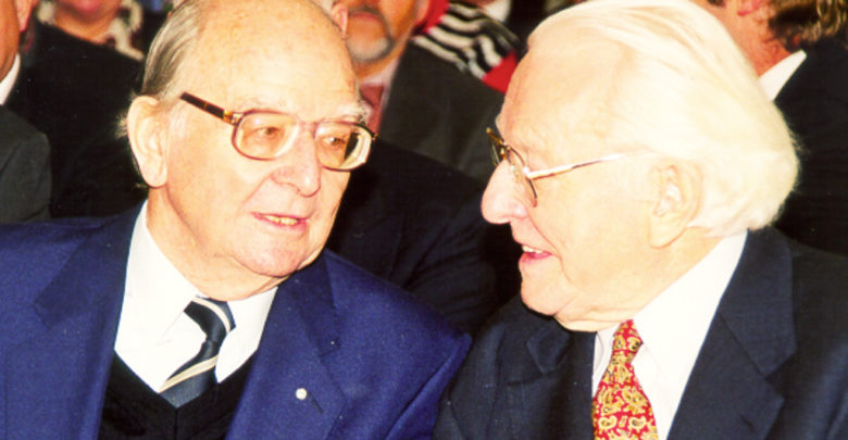 Hans Walter Wild und Wolfgang Wagner.