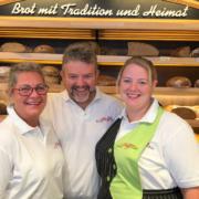 Die drei Bäckermeister der Bäckerei Lang in Bayreuth: (v.l.) Alexandra Zimmer, Thomas Zimmer und Tochter Jacqueline Ziegler. Foto: Carolin Richter
