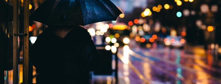 Regen an Allerheiligen in Bayreuth.
