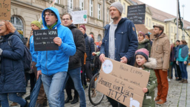 Fridays For Future Demonstration in Bayreuth.