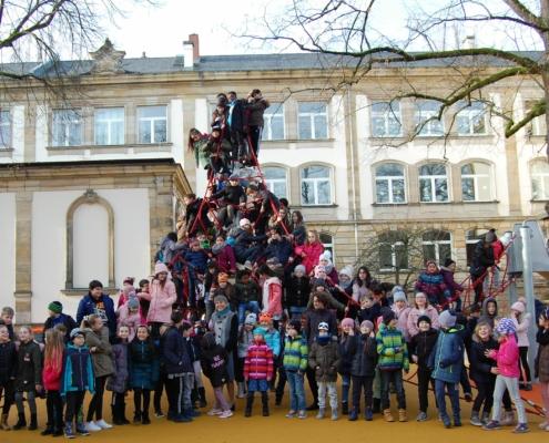 Der Pausenhof der Luitpoldschule in Bayreuth ist fertig.