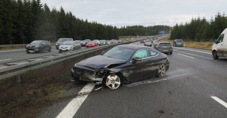Ein Mann verlor auf der A9 die Kontrolle über sein Auto.