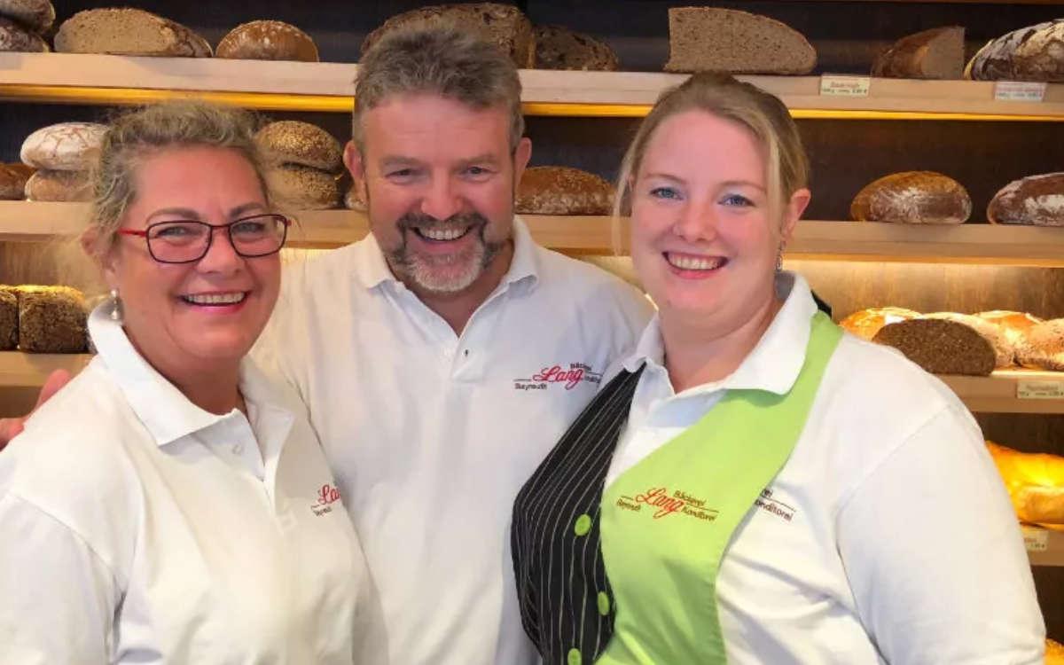Die drei Bäckermeister der Bäckerei Lang in Bayreuth: (v.l.) Alexandra Zimmer, Thomas Zimmer und Tochter Jacqueline Ziegler. Archivfoto: Redaktion