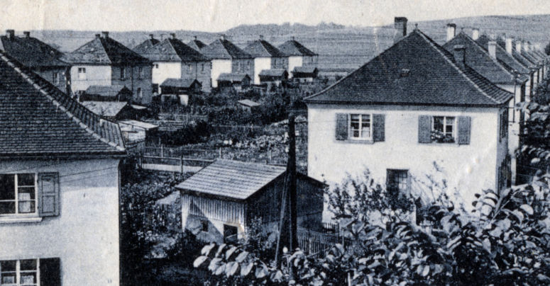 Siedlung Rabenstein um 1920. Foto: Archiv Bernd Mayer.