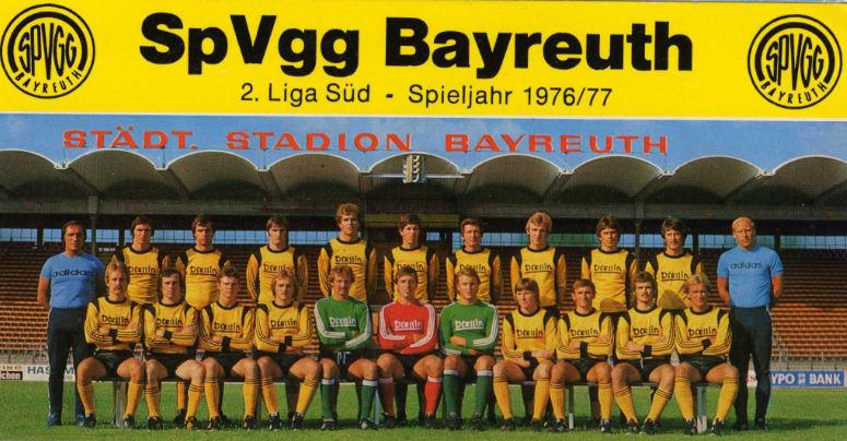 Mannschaftsfoto SpVgg 1976/1977. Archivfoto: Stephan Müller
