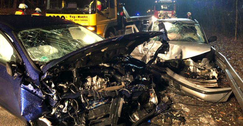 Schwerer Unfall im Kreis Bayreuth bei Mistelbach. Foto: Redaktion