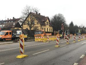 Wasserrohrbruch in Bayreuth. Foto: Christoph Wiedemann