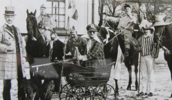 Fasching 1912 in Bayreuth. Foto: Archiv Bernd Mayer