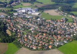 Luftaufnahme des Bayreuther Stadtteils Aichig. Foto: Stadt Bayreuth