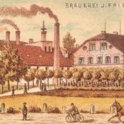 Die Brauerei J. Friedel. Foto: Archiv Bernd Mayer Stiftung.