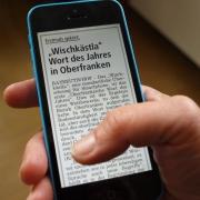 Oberfränkische Wort des Jahres 2015: Wischkästla. Foto: Bezirk Oberfranken