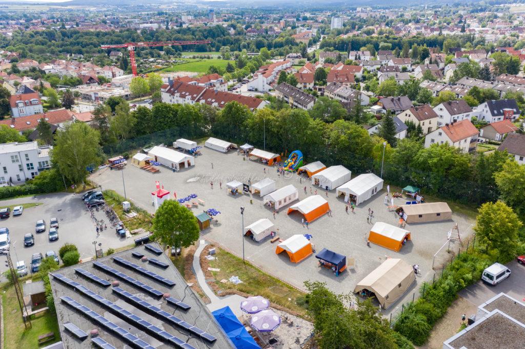 Mini-Bayreuth aus der Luft.