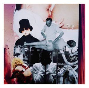 """Collage aus der Ausstellung """"Somewhere in Neverland""""."""