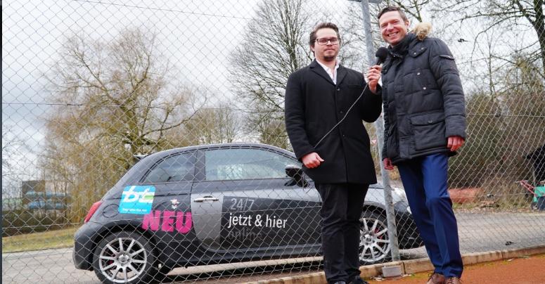 Bayreuther Landratskandidat Florian Wiedemann von den Freien Wählern bei der Kommunalwahl 2020. Foto: Susanne Monz