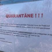 Coronavirus im Landkreis Bayreuth. Zwei Patienten positiv getestet. Foto: Frederik Eichstädt